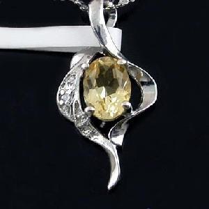 sterling silver citrine pendant blue topaz sapphire earring bracelet jewelr
