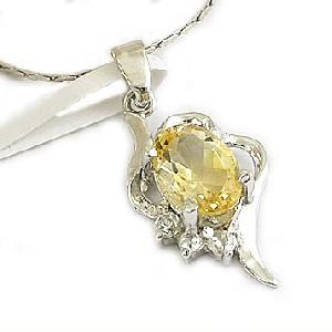 sterling silver citrine pendant blue topaz ring jewelry 18k gold