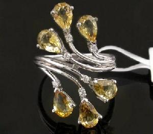 sterling silver citrine ring moonstone pendant chalcedony earring blue topaz bracele