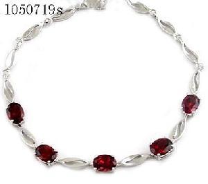 sterling silver garnet bracelet agate pendant moonstone earring costume jewelry