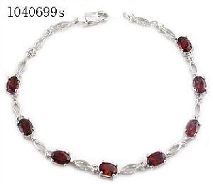 sterling silver garnet bracelet amethyst pendant tourmaline earring jewelry