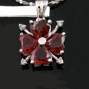 sterling silver garnet pendant beacelet citrine olivine sapphire