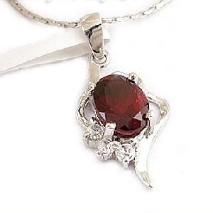 sterling silver garnet pendant olivine sapphire ruby citrine amethyst availabl