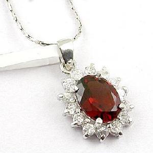 sterling silver garnet pendant sapphire ring olivine earring gemstone jewelry