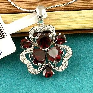 sterling silver garnet pendant topaz ring moonstone earring bracelet jewelry