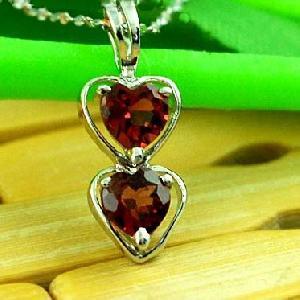 sterling silver garnet pendant tourmaline earring jadeite ring fashion jewelr