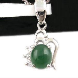 sterling silver jadeite pendant sapphire earring olivine ring