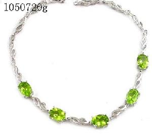 sterling silver olivine bracelet amethyst pendant gemstone ring