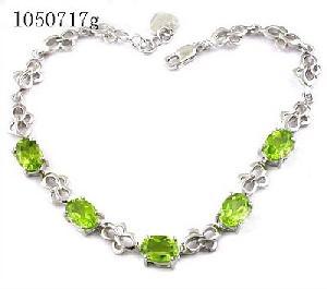 sterling silver olivine bracelet ring citrine amethyst earring ruby neckla