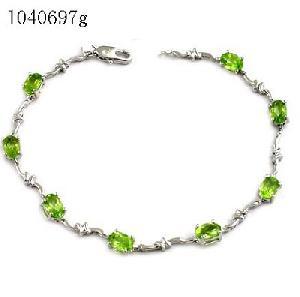 sterling silver olivine bracelet sapphire earring citrine pendant jewelry ri