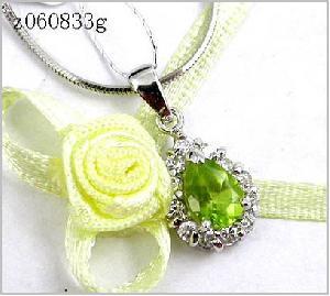 sterling silver olivine pendant garnet tourmaline ring jadeite