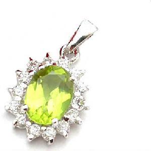 sterling silver olivine pendant garnet ring tourmaline earring amethyst