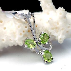 sterling silver olivine pendant sapphire earring ruby jewelry