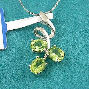 sterling silver olivine pendant sapphire ring tourmaline earring blue topaz bracelet