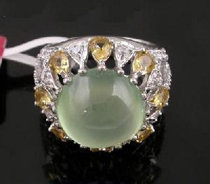 sterling silver prehnite ring jewelry olivine citrine bracelet ruby ear