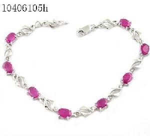 sterling silver ruby bracelet amethyst pendant garnet earring citrine ring