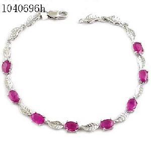 sterling silver ruby bracelet amethyst pendant tourmaline earring blue topaz ring