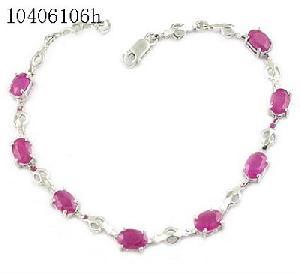 sterling silver ruby bracelet citrine pendant amethyst earring olivine ring