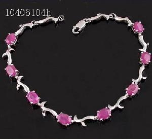 sterling silver ruby bracelet moonstone pendant tourmaline ring amethyst earring ri