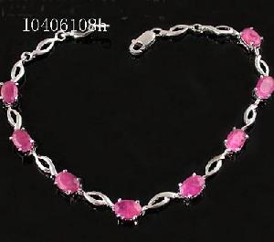 sterling silver ruby bracelet tourmaline pendant chalcedony earring garnet ring