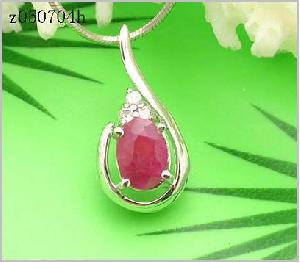 sterling silver ruby pendant blue topaz ring moonstone earring bracelet citrine rin