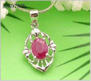 sterling silver ruby pendant blue topaz ring moonstone earring smoky quartz
