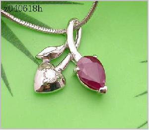 sterling silver ruby pendant blue topaz ring prehnite earring bracelet olivine