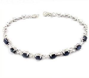 sterling silver sapphire bracelet amethyst pendant tourmaline earring olivine bracel