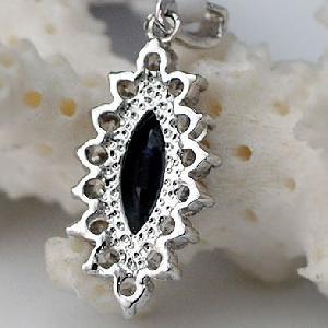 sterling silver sapphire pendant bracelet moonstone jewelry 18k gold