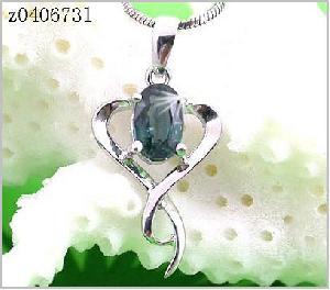 sterling silver sapphire pendant earring olivine ring jewel