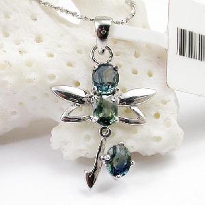sterling silver sapphire pendant tourmaline earring blue topaz bracelet ring earrin