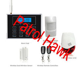 patrol hawk security wireless gsm home alarm system ukrainian