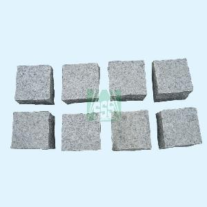 gray cobble paving stone