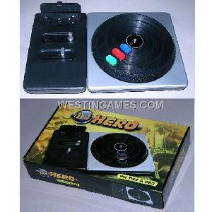 playstation 2 ps ps2 ps3 dj hero wireless turntable controller