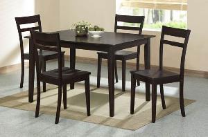 adf 018 dark brown simply dining teak mahogany wooden indoor furniture kiln dry