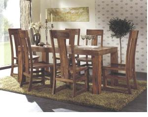 Teak Mahogany Bali Rectangular Table And Antique Chair In Dining Set Indoor  Furniture