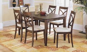 adf 09 mahogany simply minimalist cross dining teak wooden indoor furniture