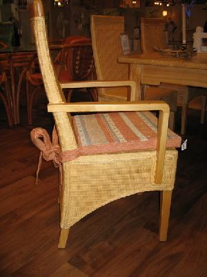 rattan mahogany dining chair arm rest woven furniture