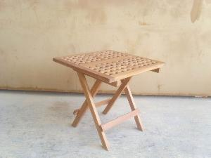 picnic teak folding table outdoor garden furniture kiln dry