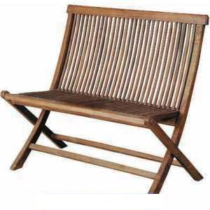 teak folding bench 2 seater outdoor garden furniture