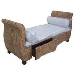 waterhyacinth sofa 2 seater rest woven rattan furniture