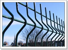 welded wire fence pvc coated