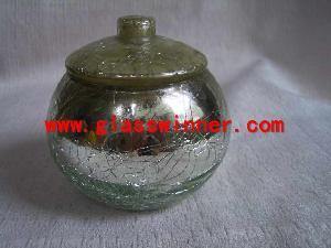 crack glas jar removeable lid