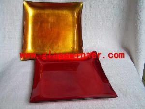 gild glass plate