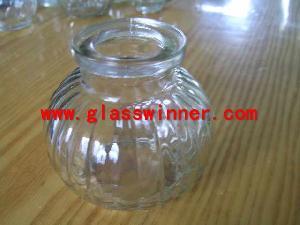 glass pumpkin jar