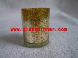 gold mercury glass