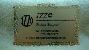 gold silver metal card vip