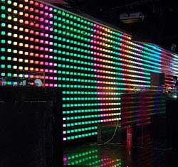 led music wall curtain background display