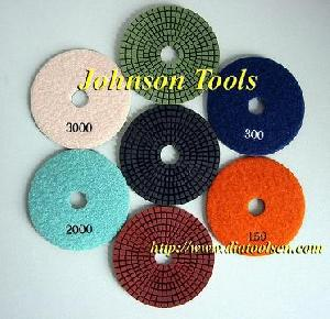 flexible diamond wet polishing pads