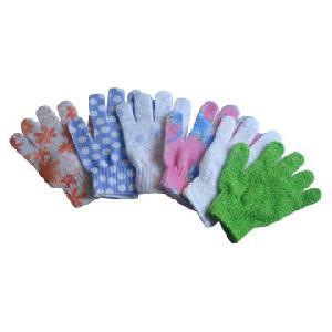 nylong bath gloves printed